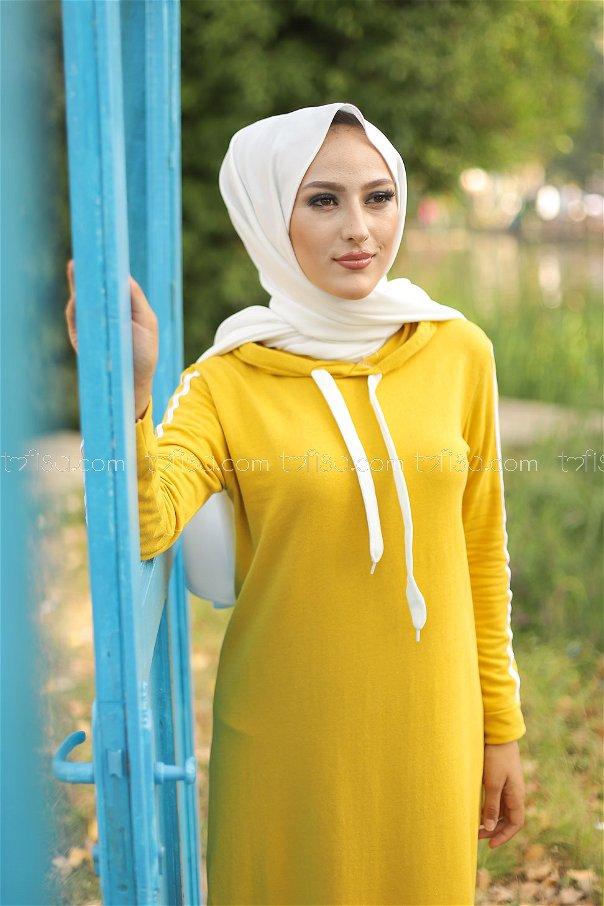 Dress Hooded Yellow - 3227