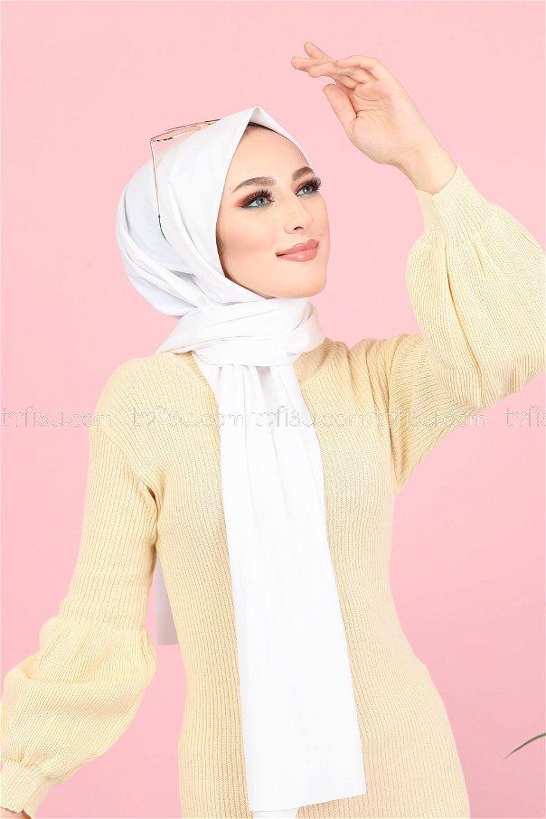 Dress Knitwear Balloon Arm Cream Color - 8278