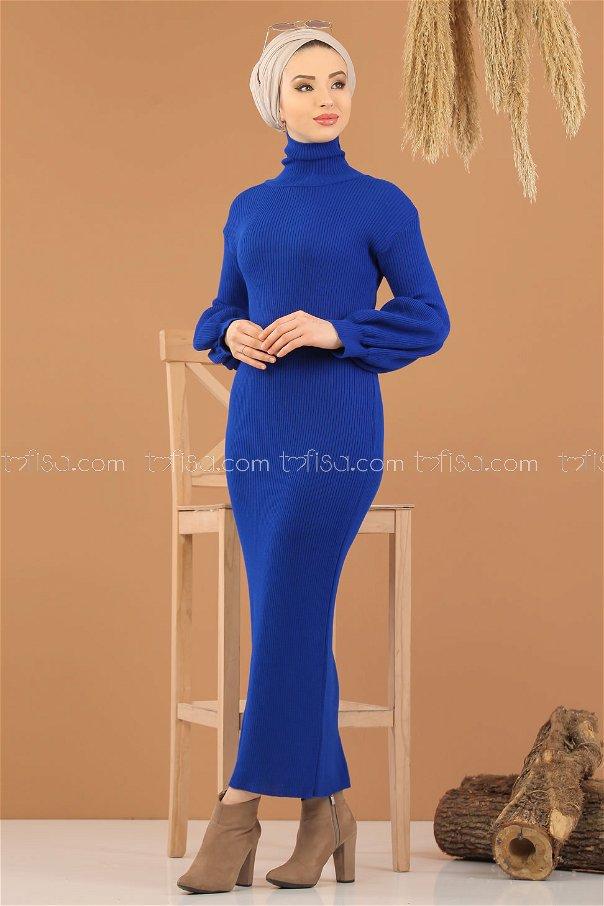 Dress Knitwear Balloon Arm saks - 8278