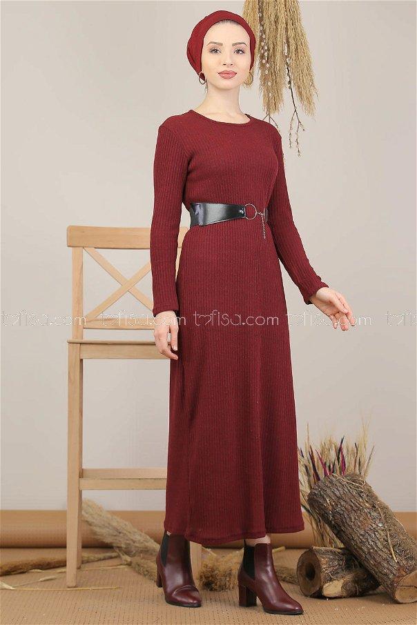 Dress Knitwear claret red - 5185