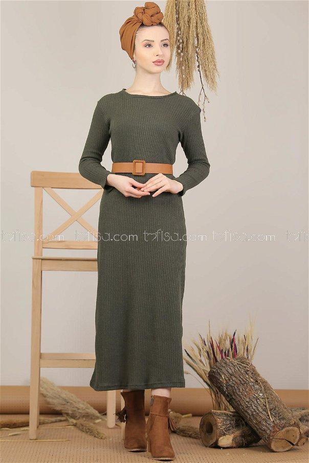 Dress Knitwear khaki - 5185
