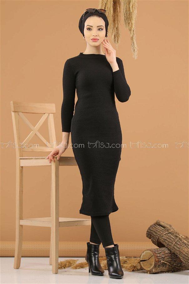 Dress Knitwear throated black - 8262