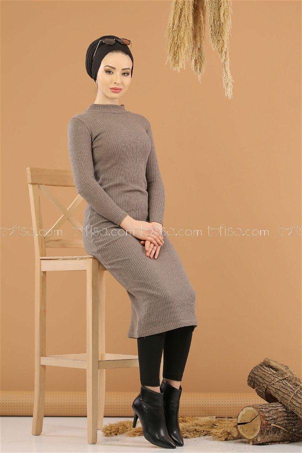 Dress Knitwear throated brouwn - 8262