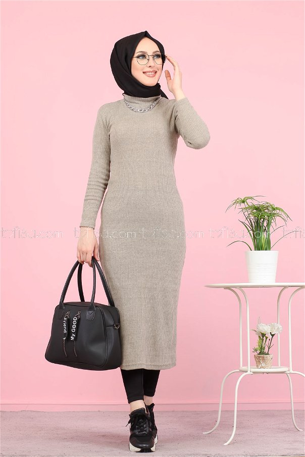 Dress Knitwear throated mink - 8262