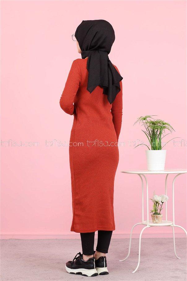 Dress Knitwear throated Orange - 8262