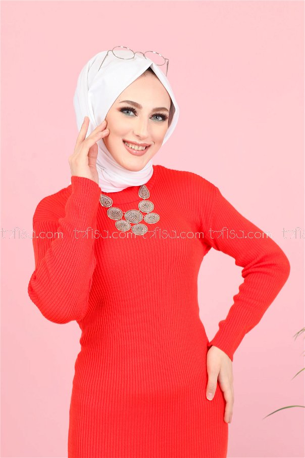 Dress Knitwear throated Pomegranate flower - 8142