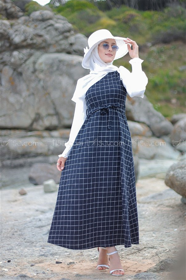 Dress Navy Blue -3229