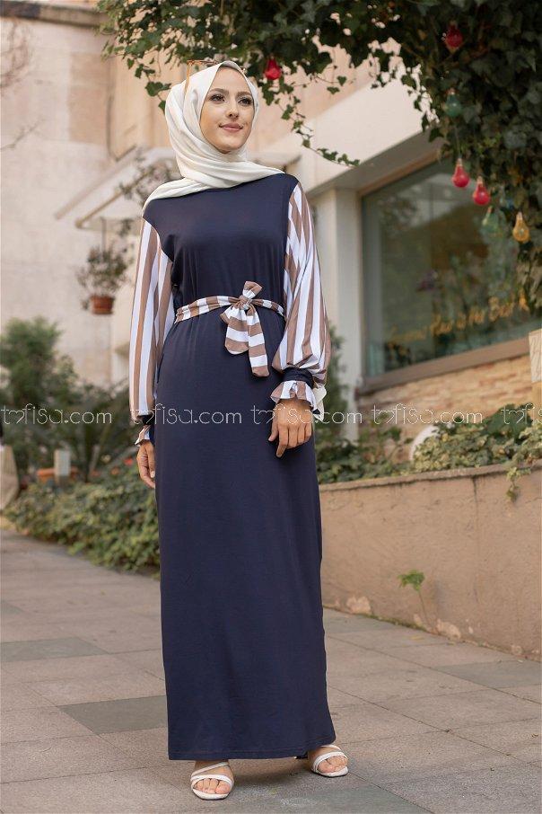 Dress Navy Blue Mink - 5261