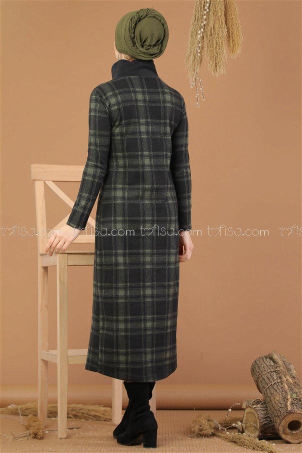 Dress Neck collar khaki - 8224