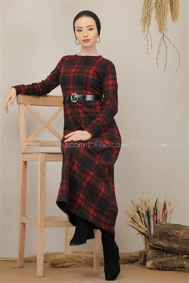 Dress Plaid red - 5196