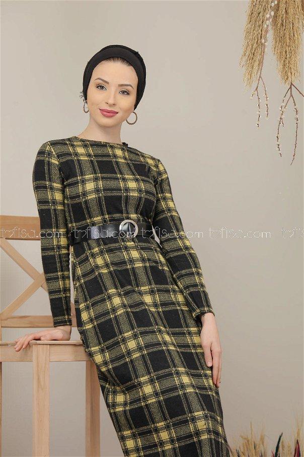 Dress Plaid Yellow - 5196