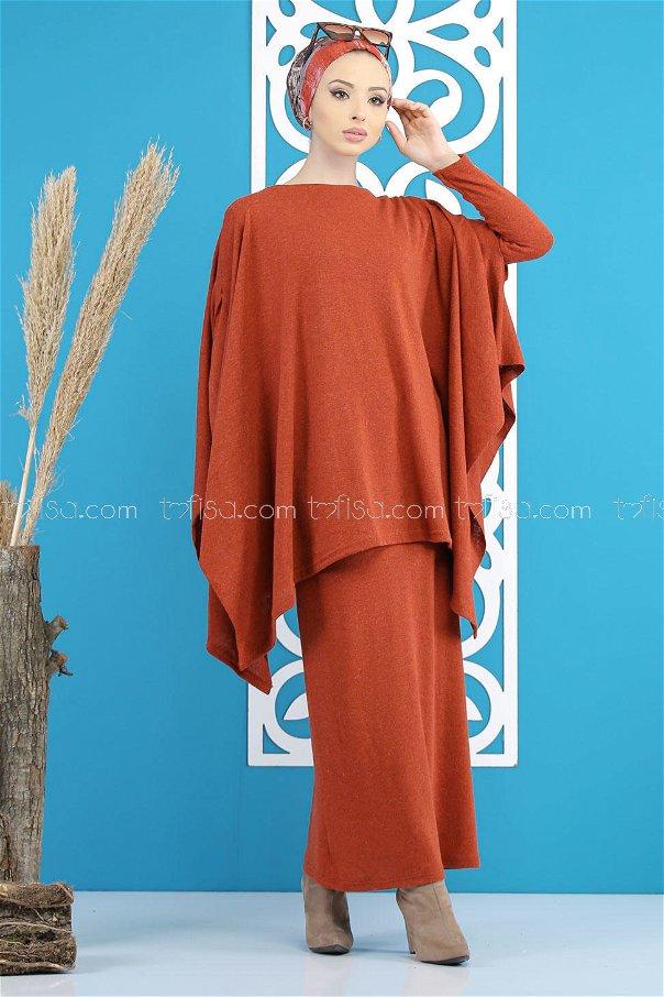 Dress poncho orange - 5166