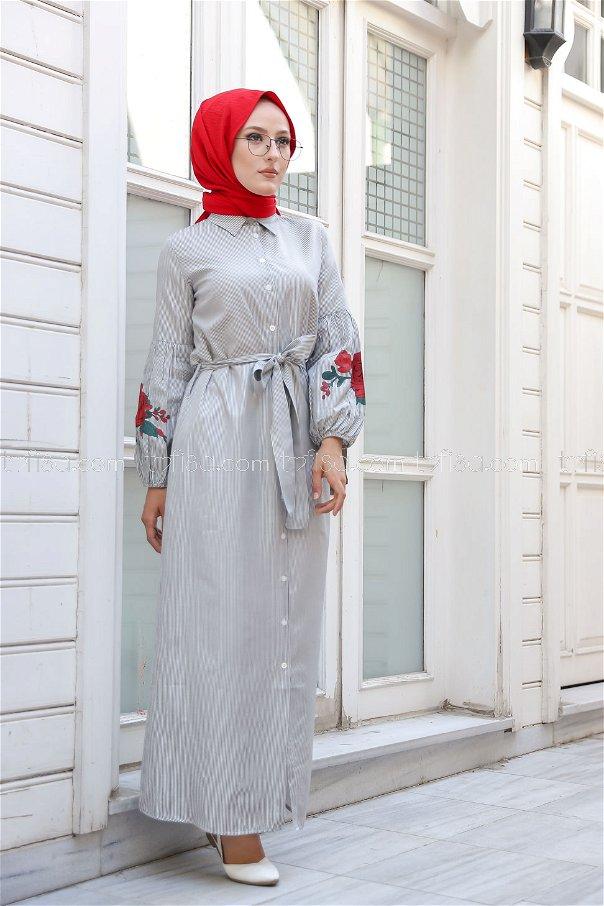 Dress Printed Black - 3017