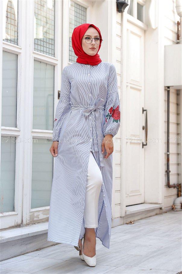 Dress Printed Blue - 3017