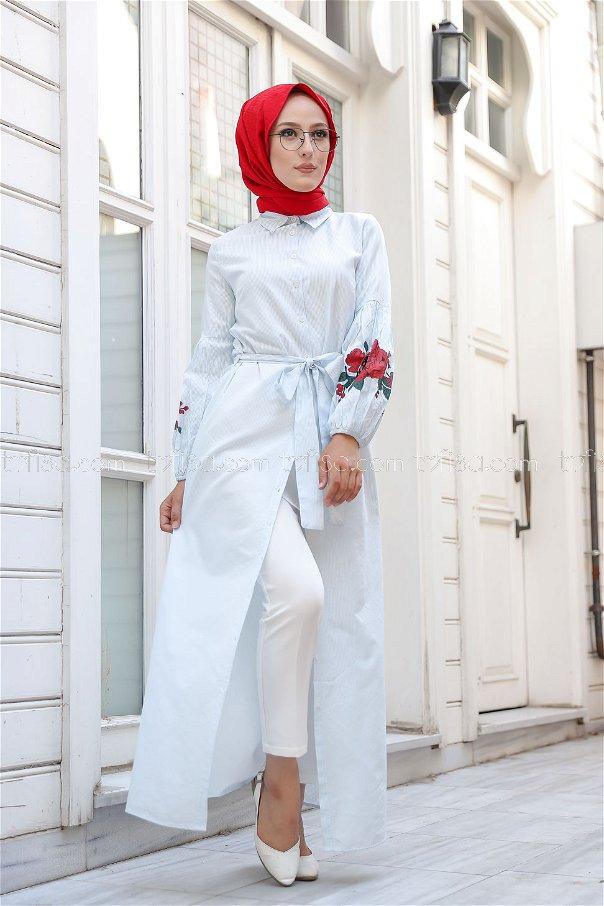 Dress Printed Light Blue - 3017