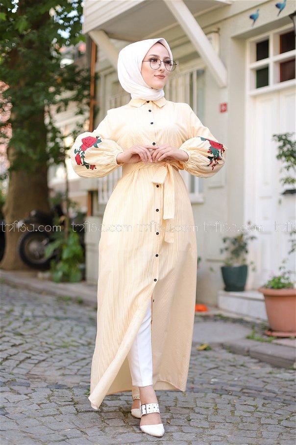 Dress Printed Mustard - 3017