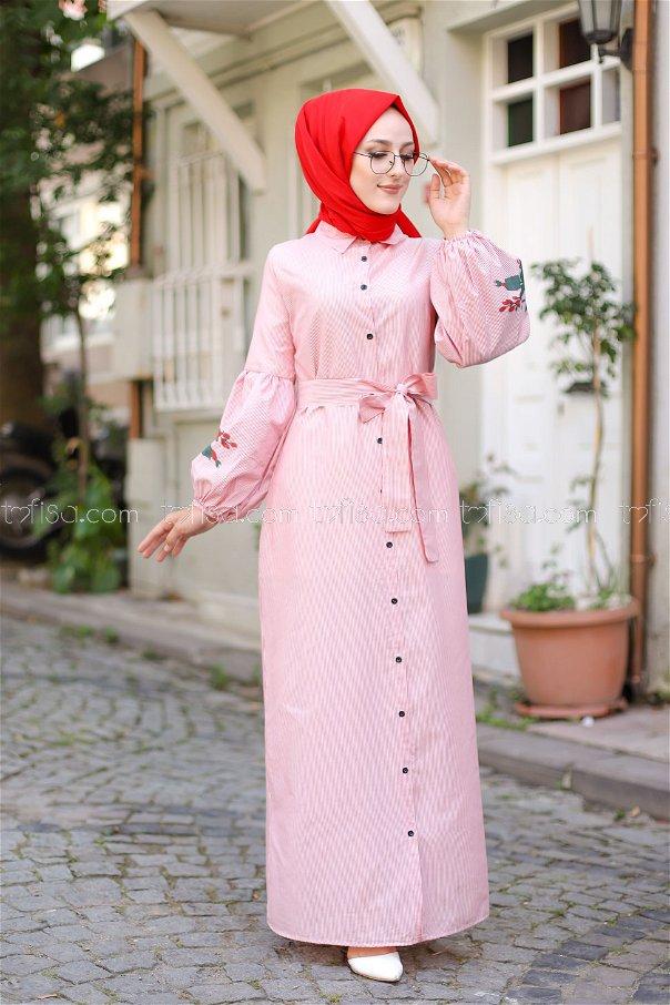 Dress Printed Red - 3017