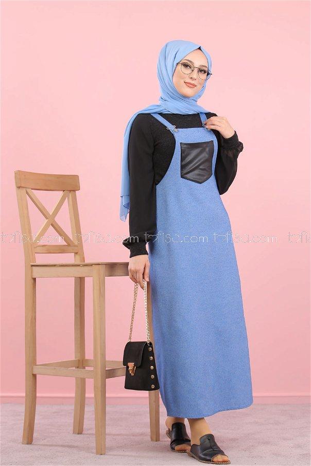 Dress Strapless blue - 3006