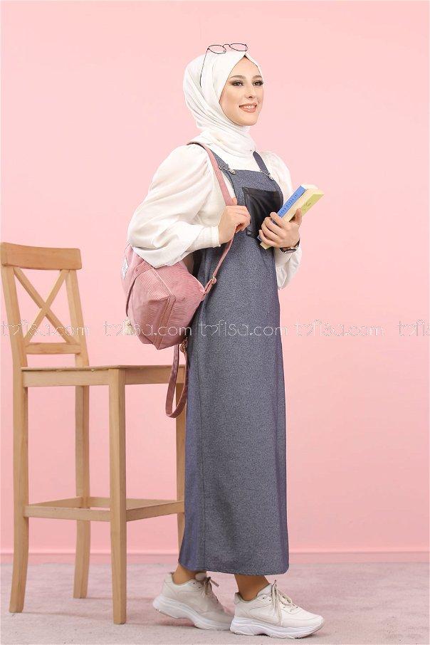 Dress Strapless gray - 3006