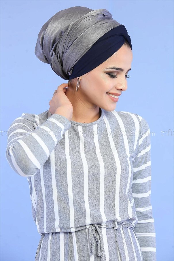 Dress Striped gray - 02 5100