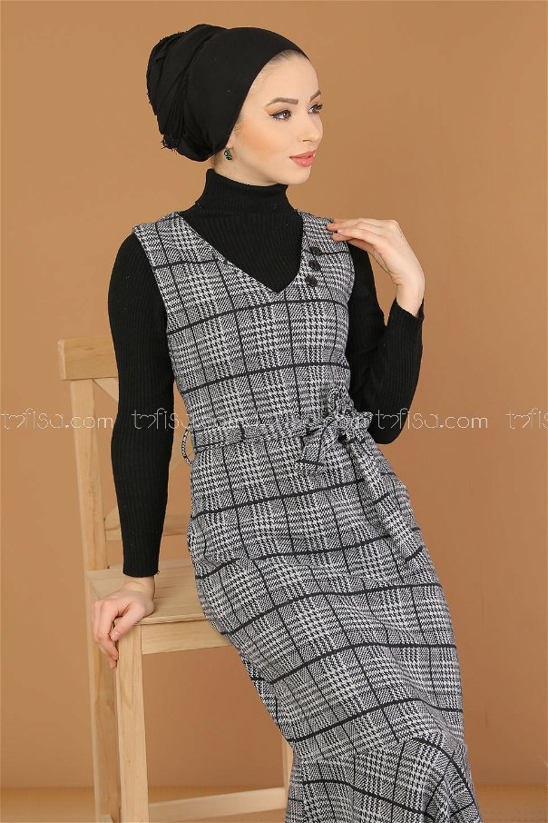 Dress without sleeves gray - 5219
