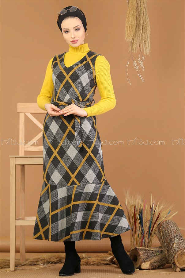 Dress without sleeves Yellow - 5220