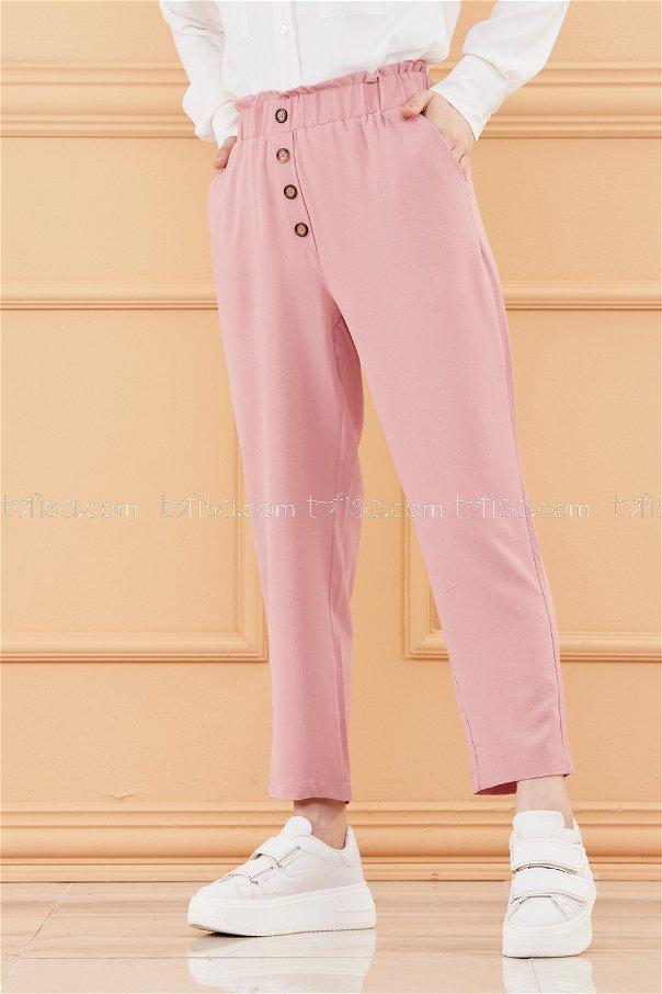 Dugme Detay Pantolon GUL - 20076