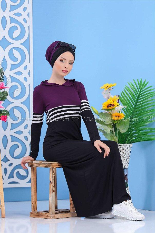 Elbise Siyah Mürdüm - 03 5147
