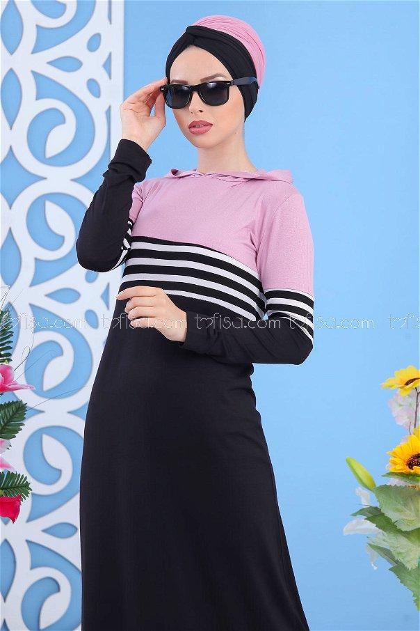 Elbise Siyah Pudra - 03 5147
