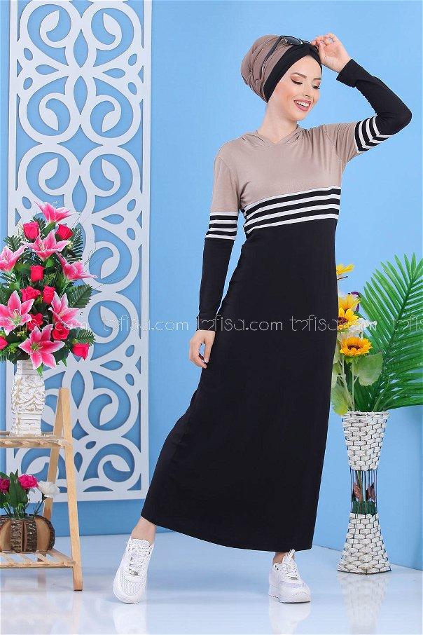 Elbise Siyah Vizon - 03 5147