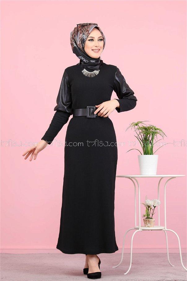 Elbise Siyah - 1353