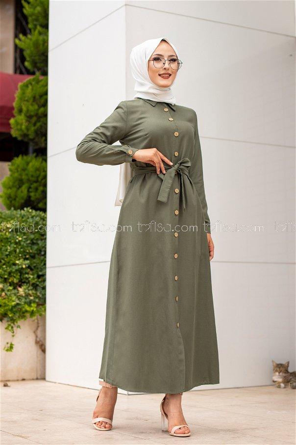 Elbise Açık Haki - 3244