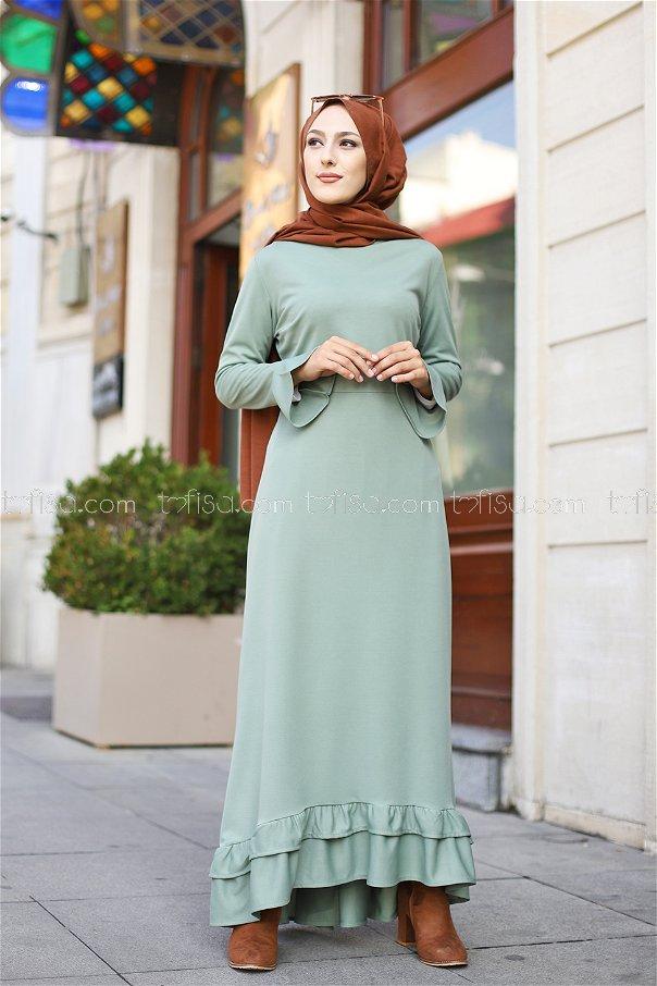 Elbise Açık Yeşil - 1363