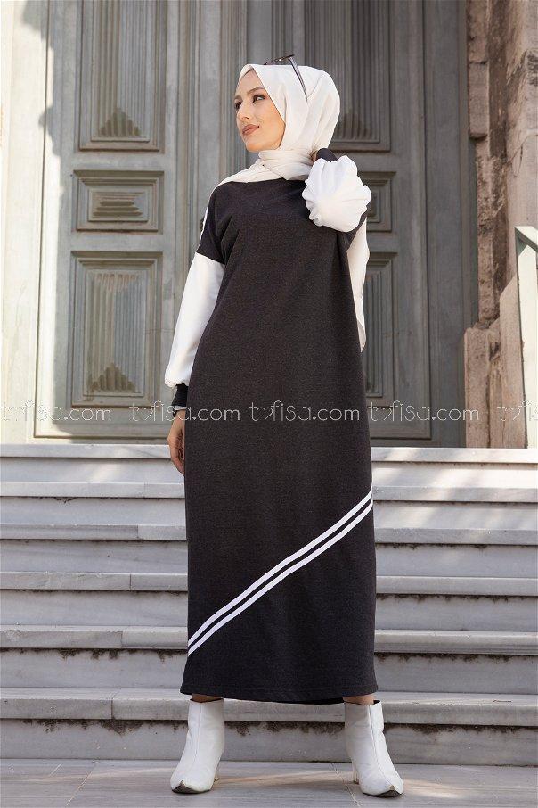 Elbise Antrasit - 3240