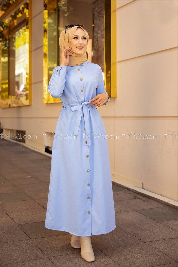 Elbise Bebe Mavi - 3244