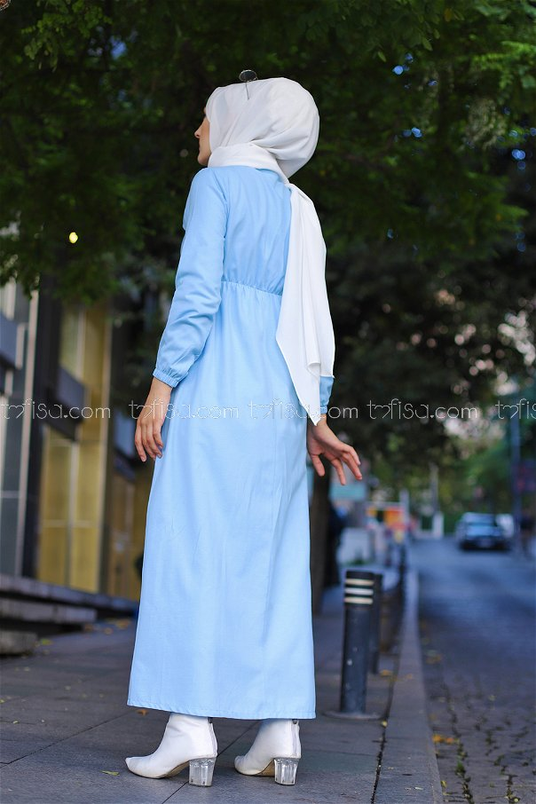 Elbise Bebe Mavi - 8369