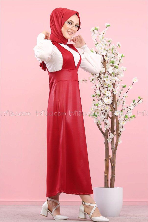 Elbise Bordo - 1365
