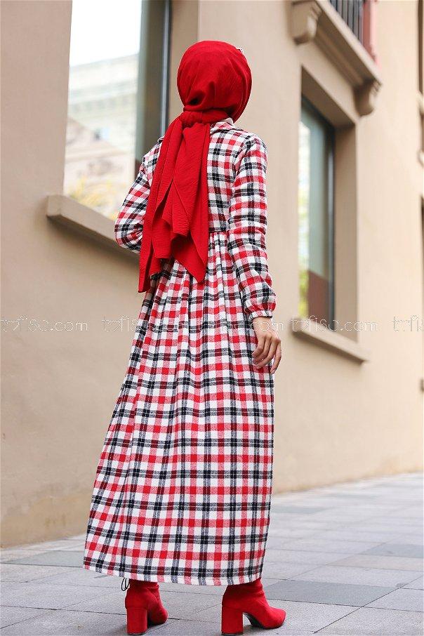 Elbise Çanta Kırmızı Siyah - 9094