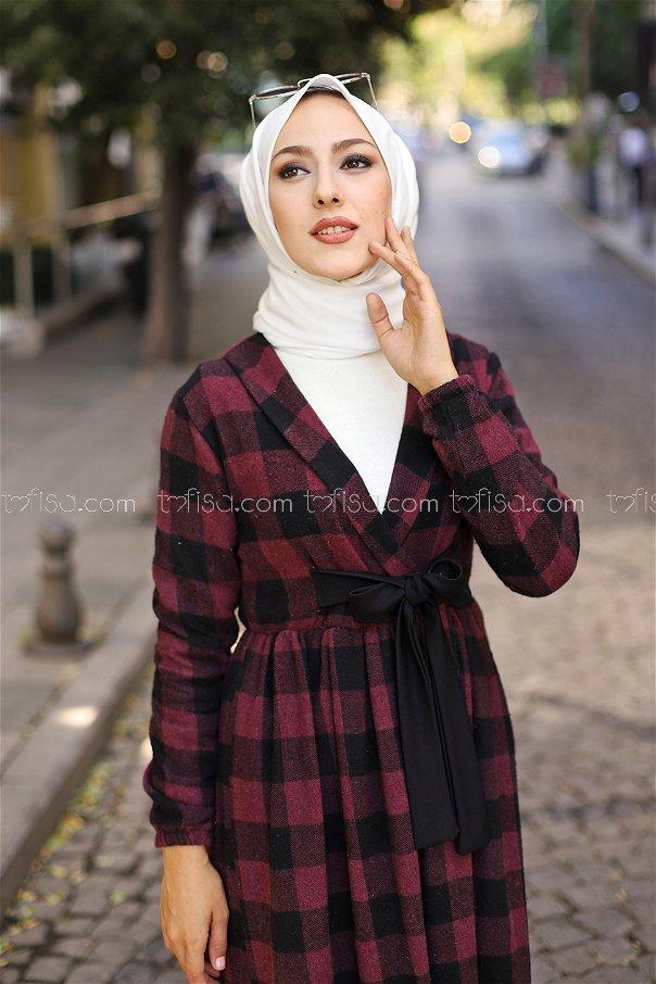 Elbise Çanta Siyah Bordo - 9096
