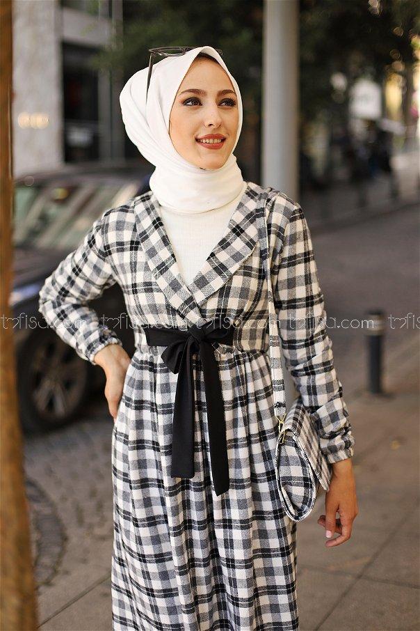 Elbise Çanta Siyah Gri - 9094
