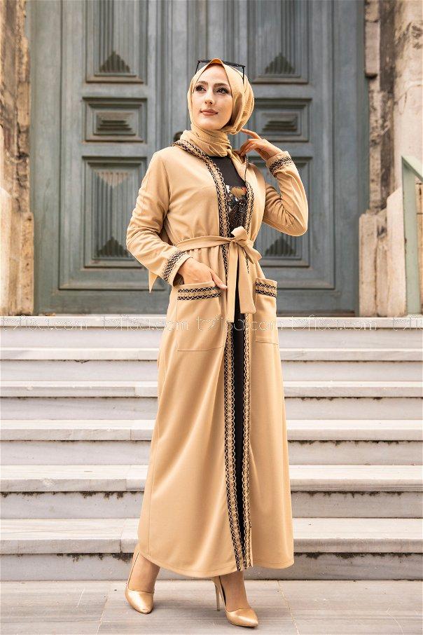 Elbise Ceket Bej - 9080