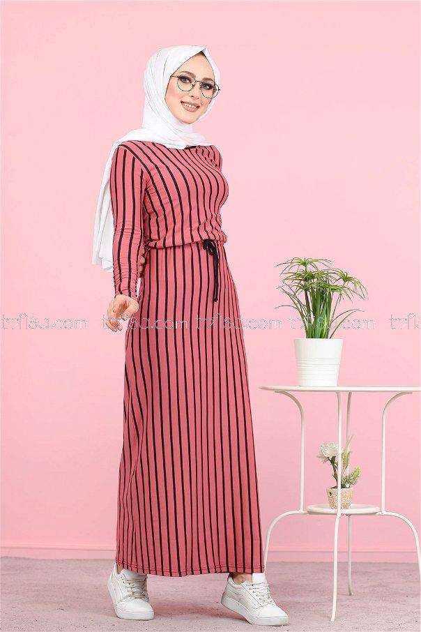 Elbise Fuşya - 5254