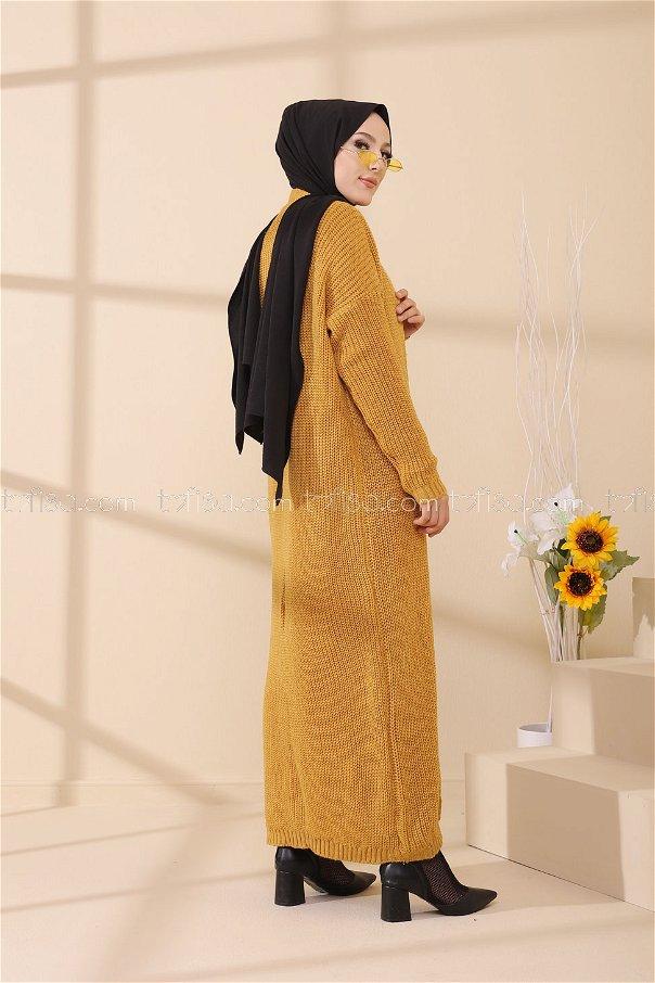 Elbise Hırka Hardal - 8641