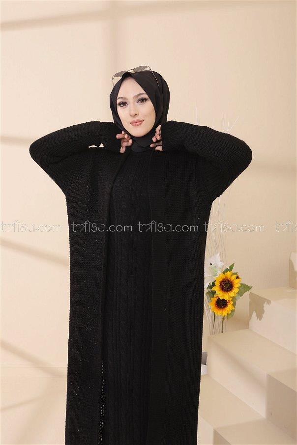 Elbise Hırka Siyah - 8641