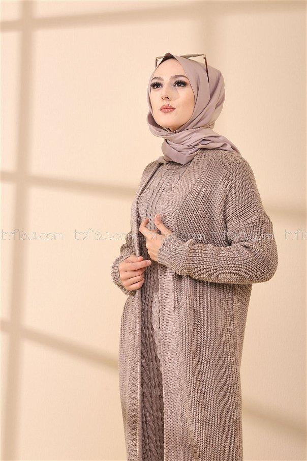 Elbise Hırka Vizon - 8641