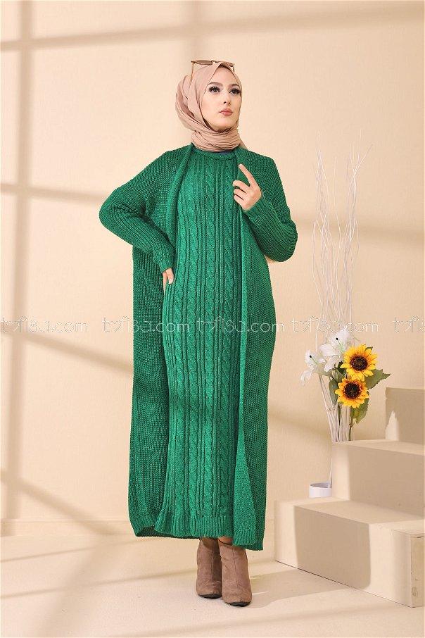 Elbise Hırka Zümrüt - 8641