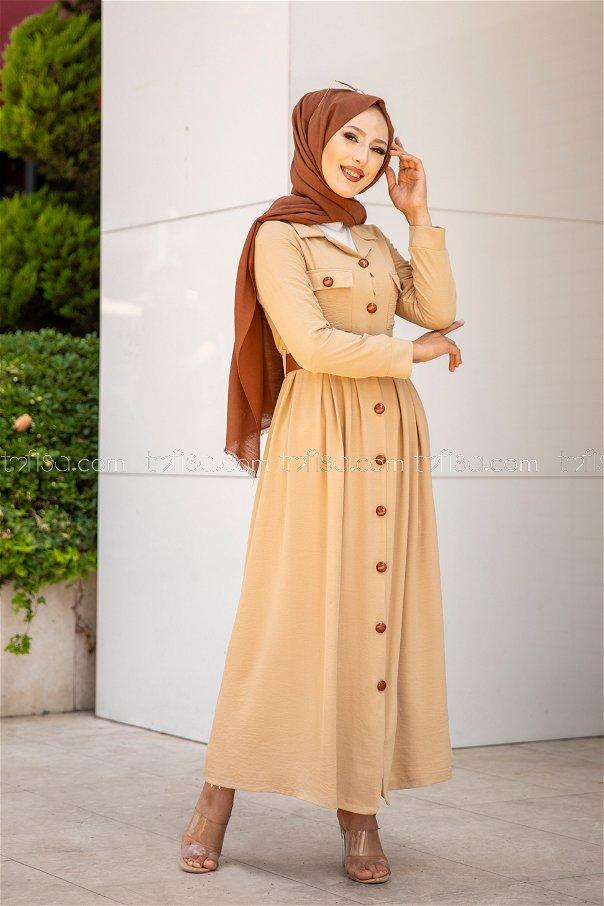 Elbise Kemer Bej - 9055