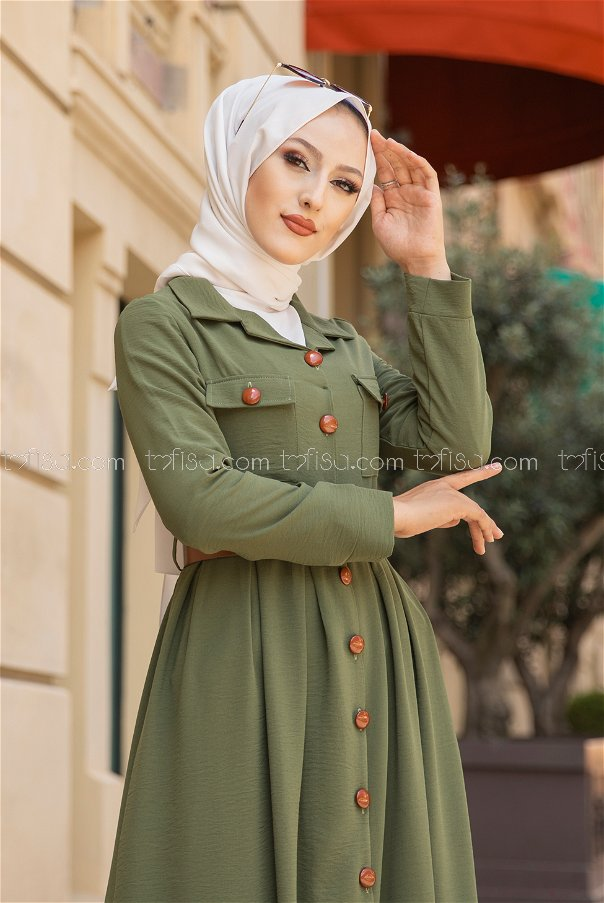 Elbise Kemer Haki - 9055