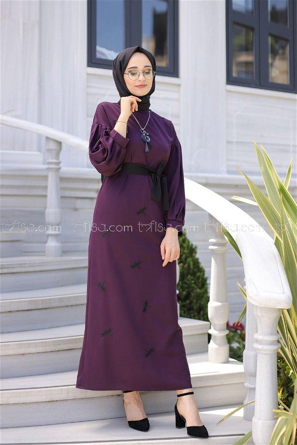 Elbise Kemer Mor - 9023