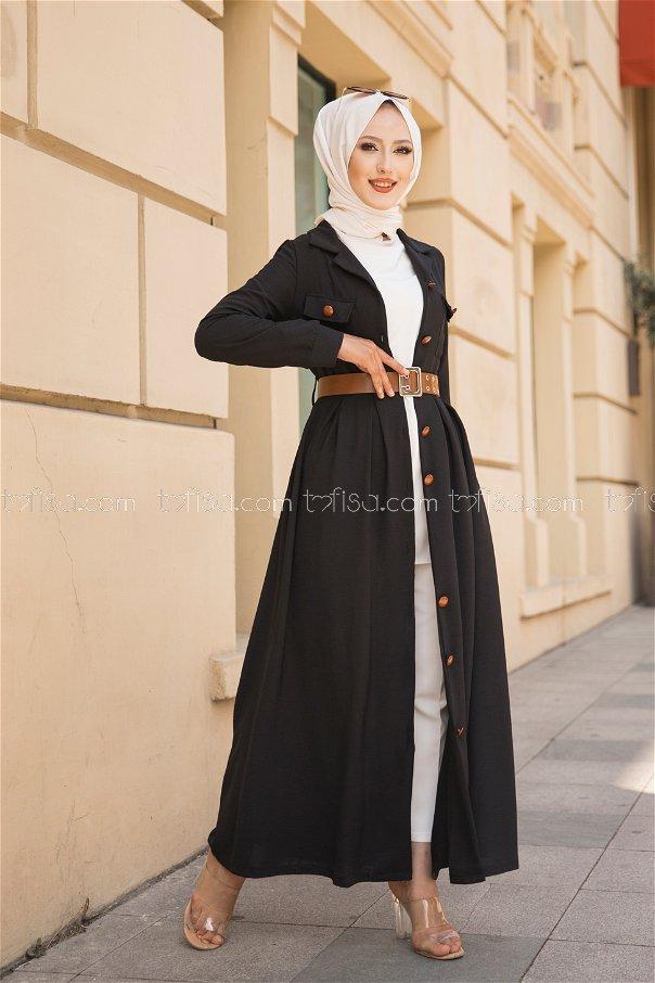 Elbise Kemer Siyah - 9055